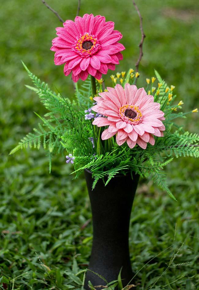 Mais flores de crochê para enganar todo mundo