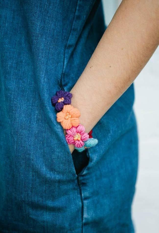 flores de crochê para usar e arrasar nos seus looks
