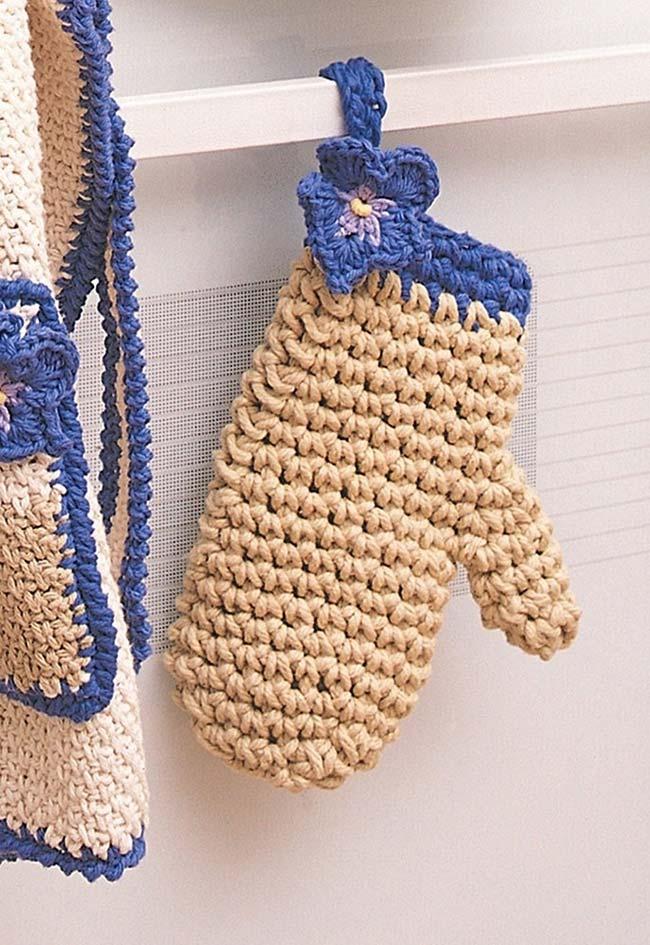 Continuação do jogo de cozinha de crochê