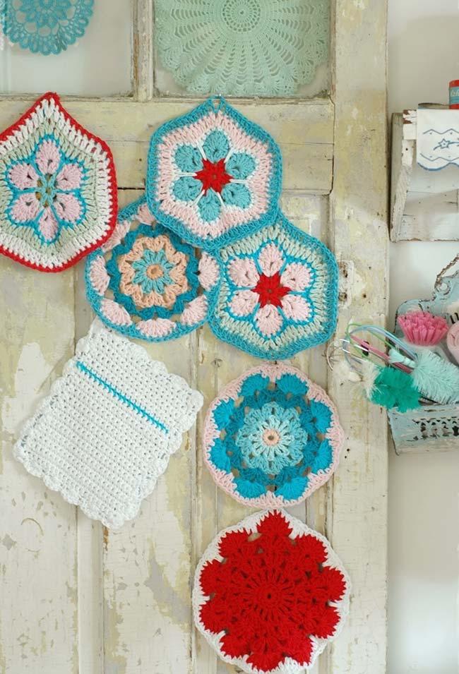 Seus trabalhos em crochê para a cozinha são funcionais e ainda completam a sua decoração