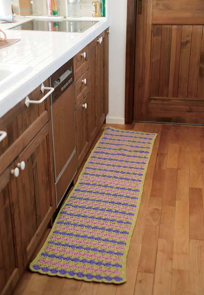 Passadeira de crochê para cozinha
