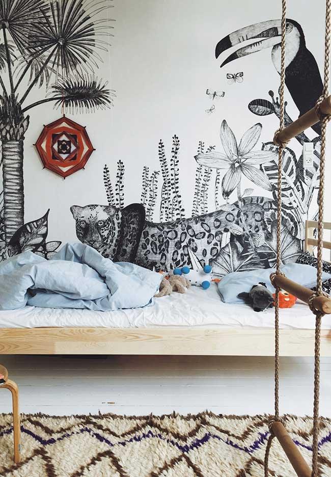 Papel de parede para quarto de menino cheio de detalhes