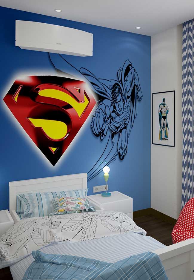 Quarto de menino temático do Superman