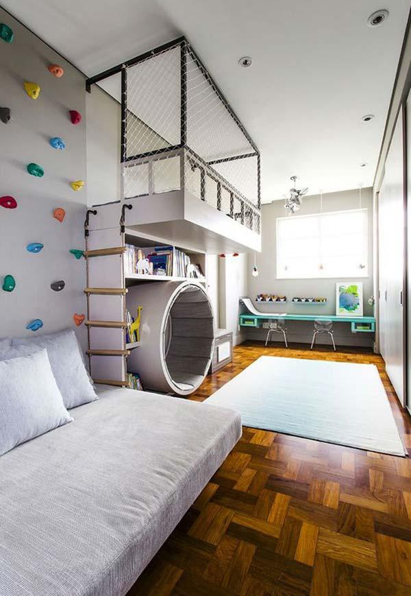 Um quarto de menino grande é o espaço ideal para grandes aventuras