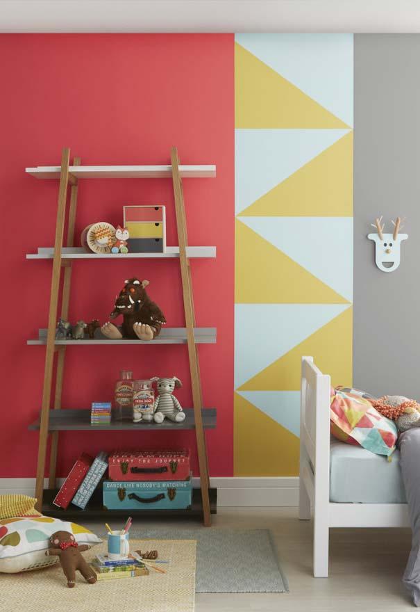 Paredes divertidas e coloridas no quarto de menino