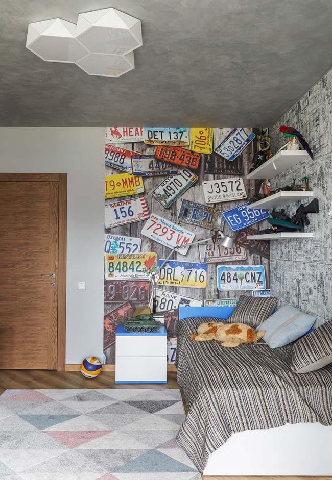 Clima urbano para decoração do quarto de menino
