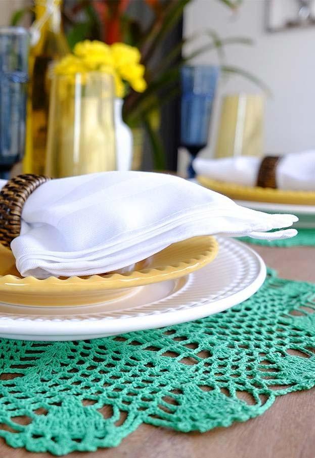 sousplat de crochê e decorar sua mesa