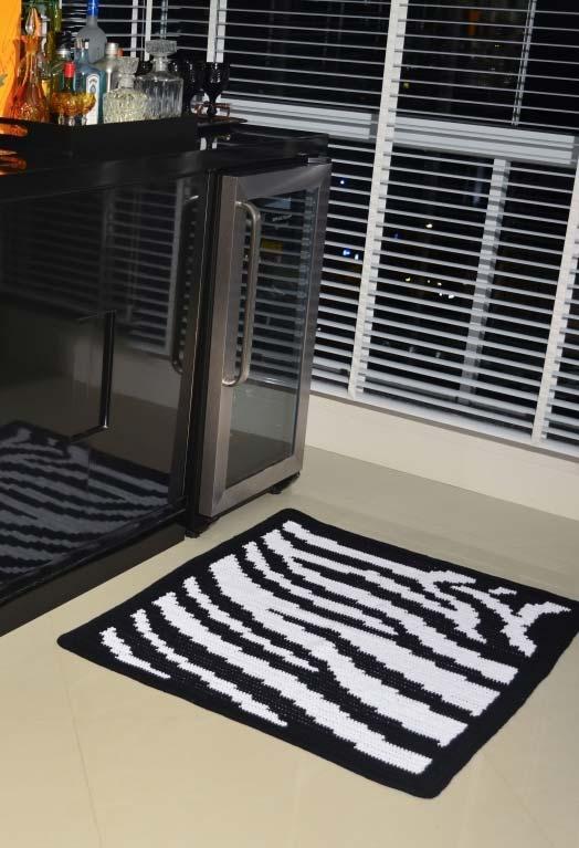 Tapete de crochê quadrado para cozinha