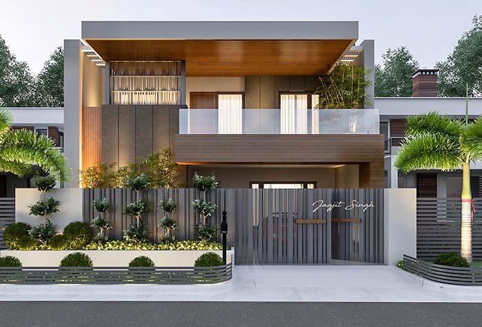 Uma casa como essas dispensa totalmente um telhado aparente