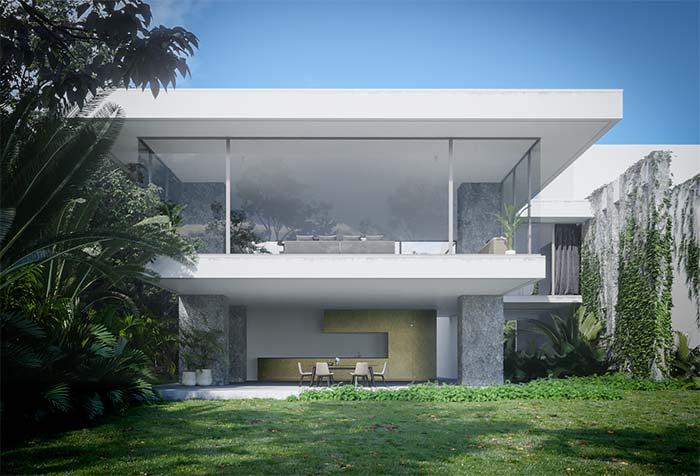 Quer uma fachada clean e sóbria? Então se inspire em algo semelhante a essa casa