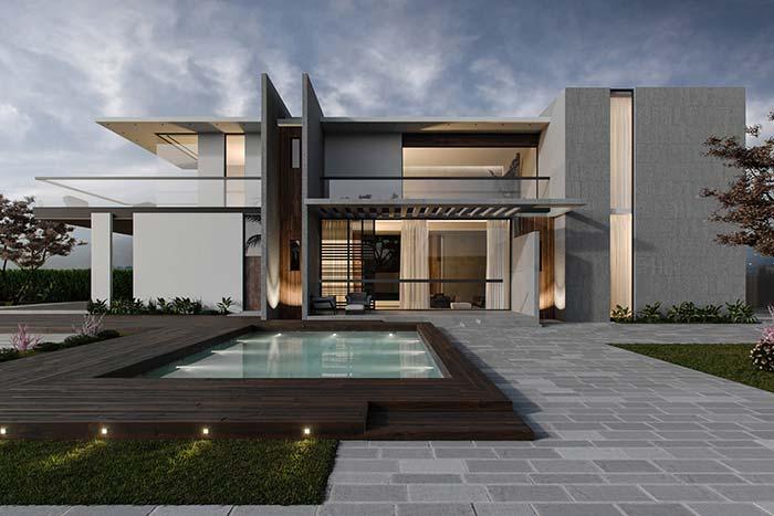Um projeto arquitetônico de saltar os olhos; o telhado embutido prova que pode ser usado desde as construções mais simples até as mais ousadas