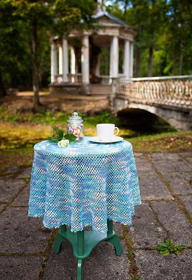 Toalha de mesa de crochê para todos os tipos e tamanhos de mesa