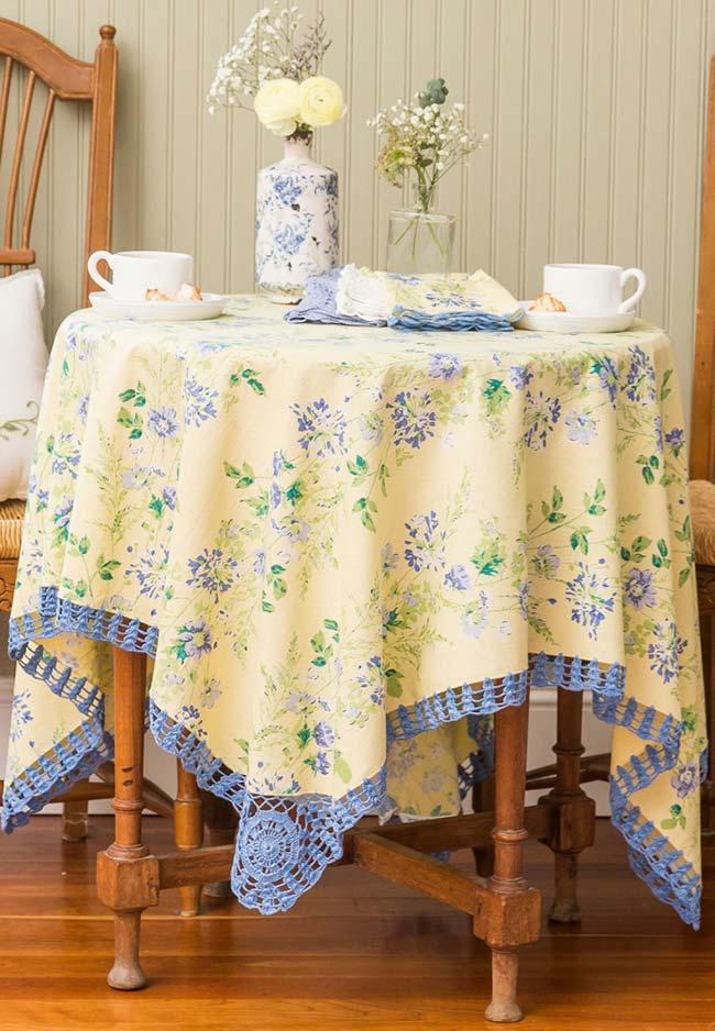 Toalhas de mesa de tecido estampado: