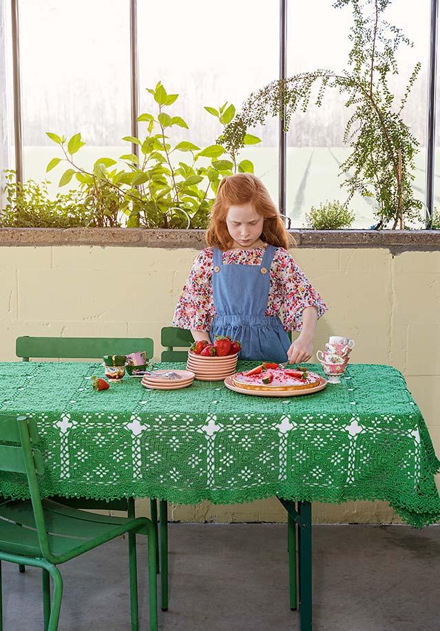 Toalha de mesa de crochê para compor dentro do ambiente