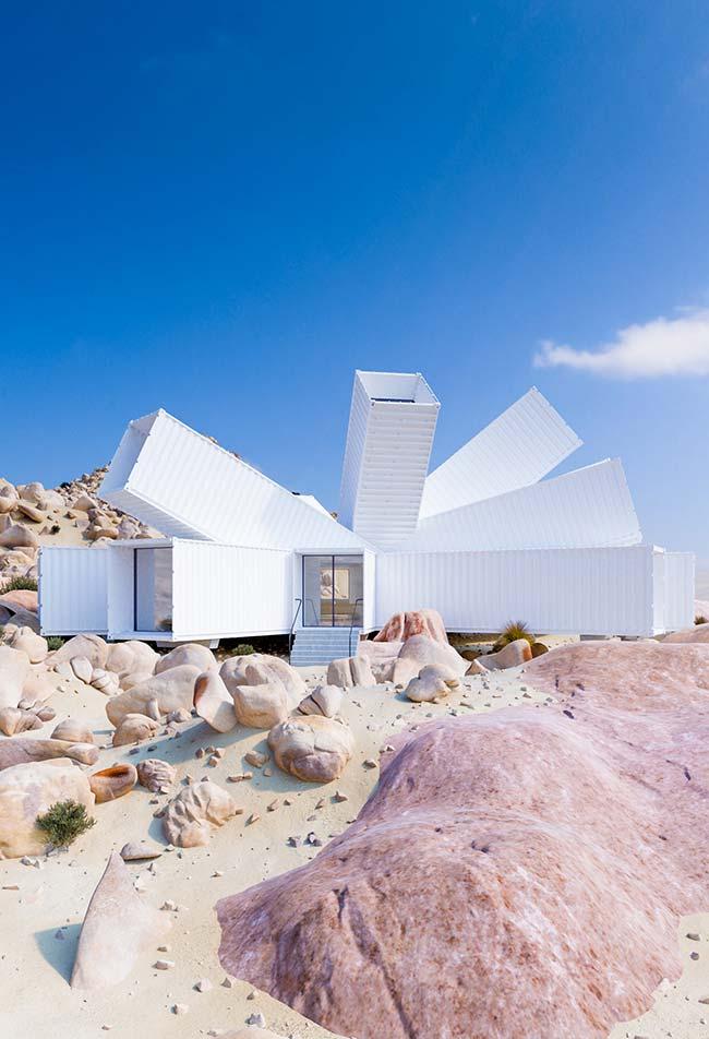 Insira containers também na construção de casas de concreto