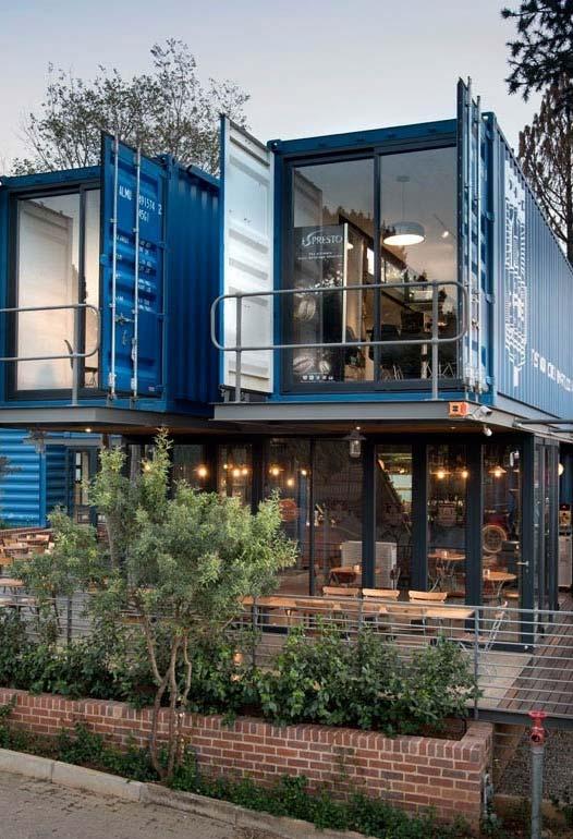 Casa container direto dos projetos arquitetônicos mais criativos e inovadores