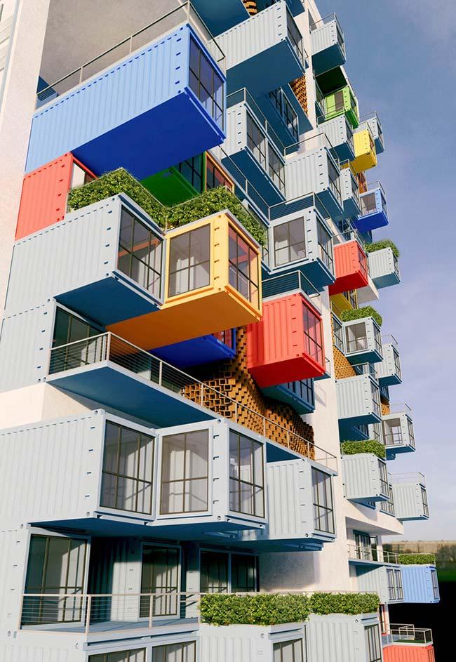 Complexo de casas de container