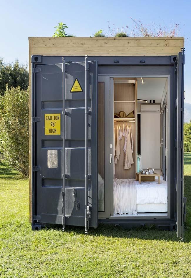 Casa container minimalista