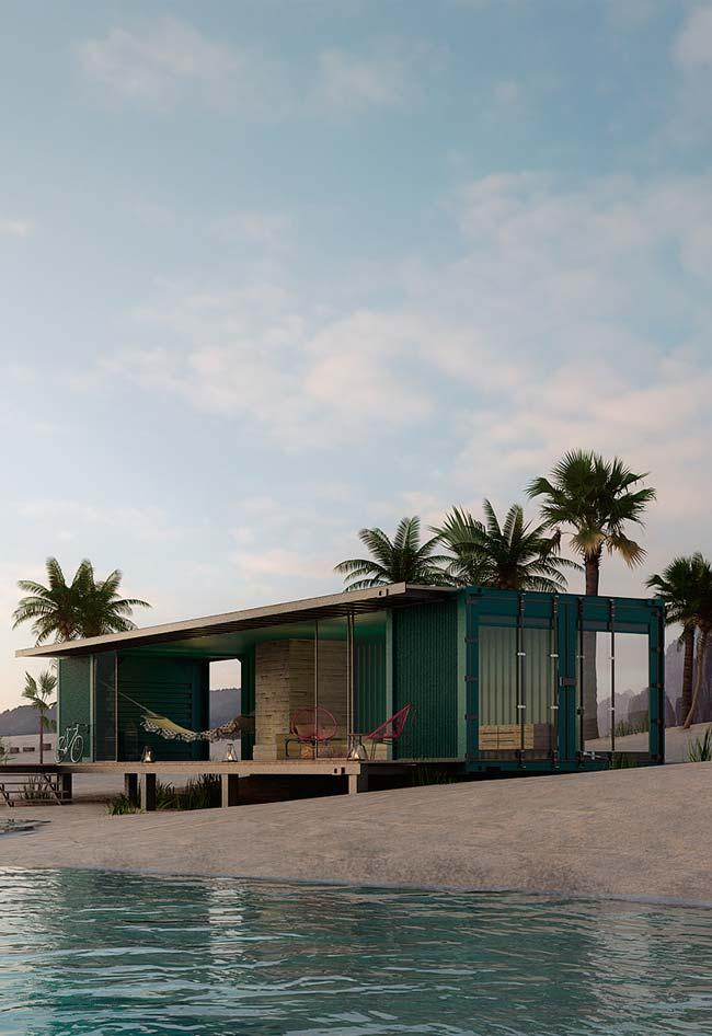Casa container na praia