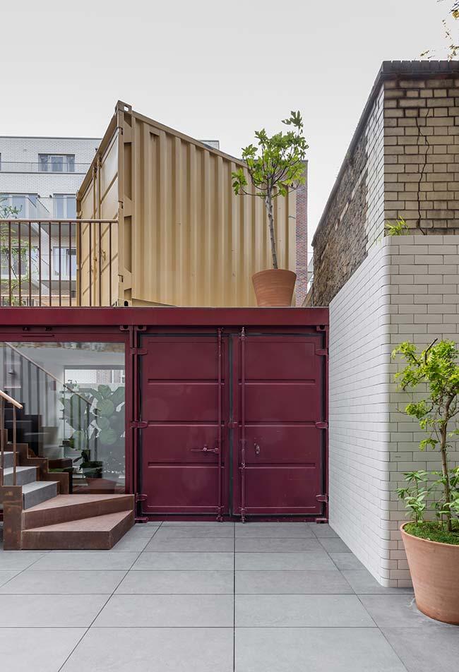 Casa container na cidade