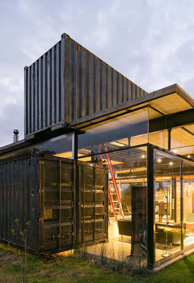 Casa container em estilo contemporâneo