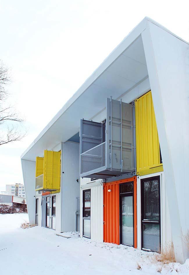 Ideia para um complexo de casas container