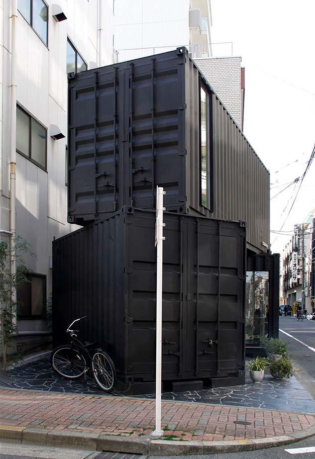 Casa container diferente com estrutura irregular