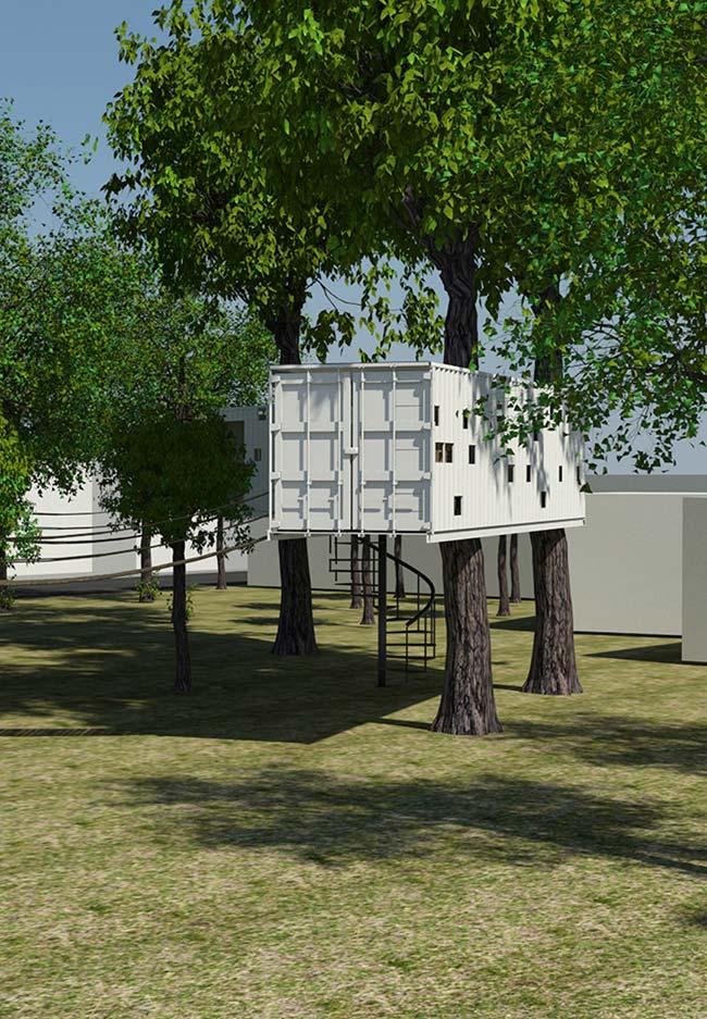 Casa na árvore container