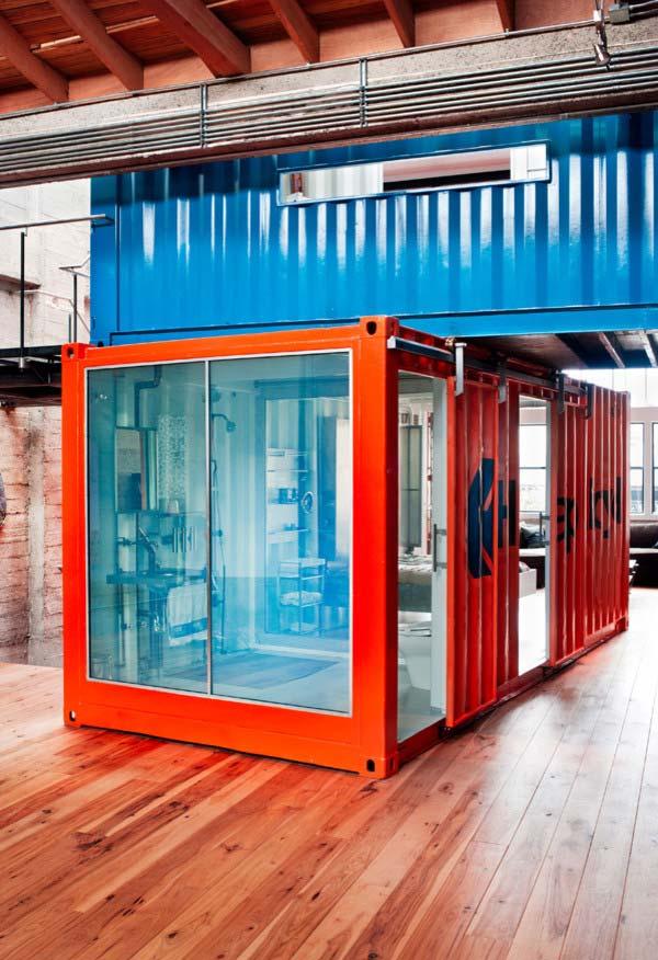 Divisão dentro da sua casa com containers