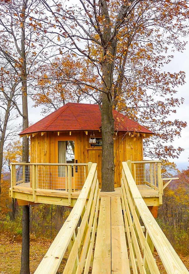 Casa na árvore de outono