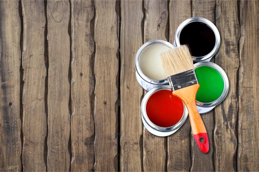 Ideia ilustrativa de tintas para pintar madeira