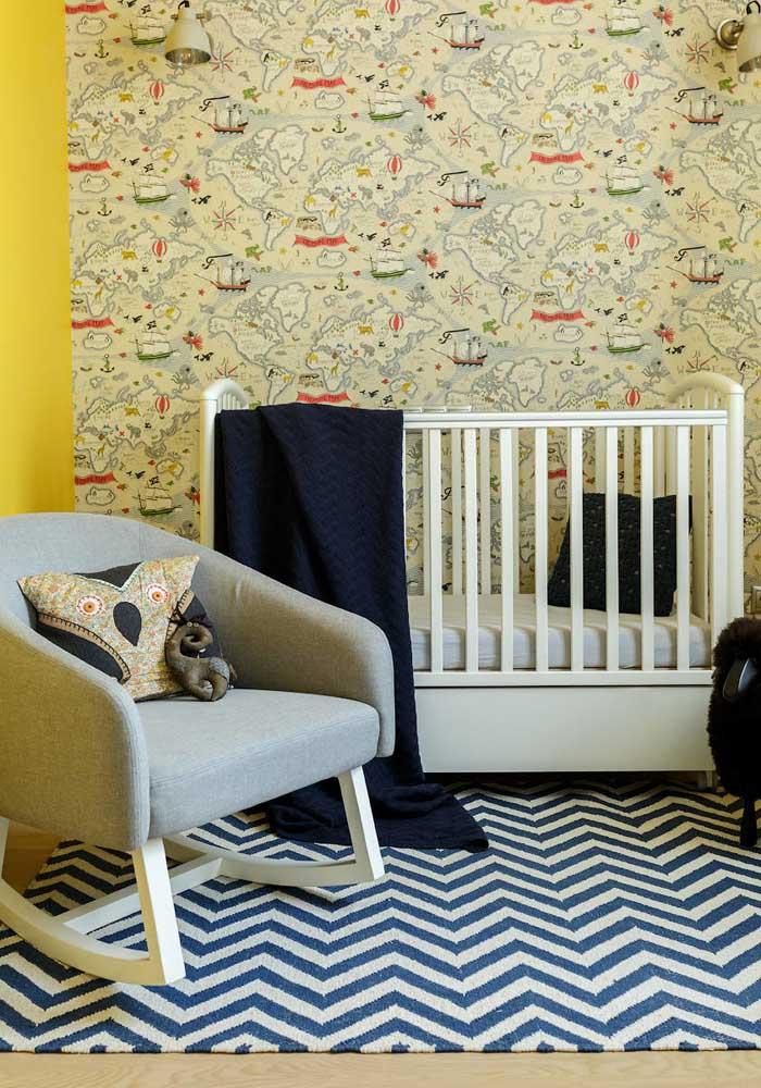 Cores de parede para quarto de bebê masculino: que tal tentar um toque de amarelo?