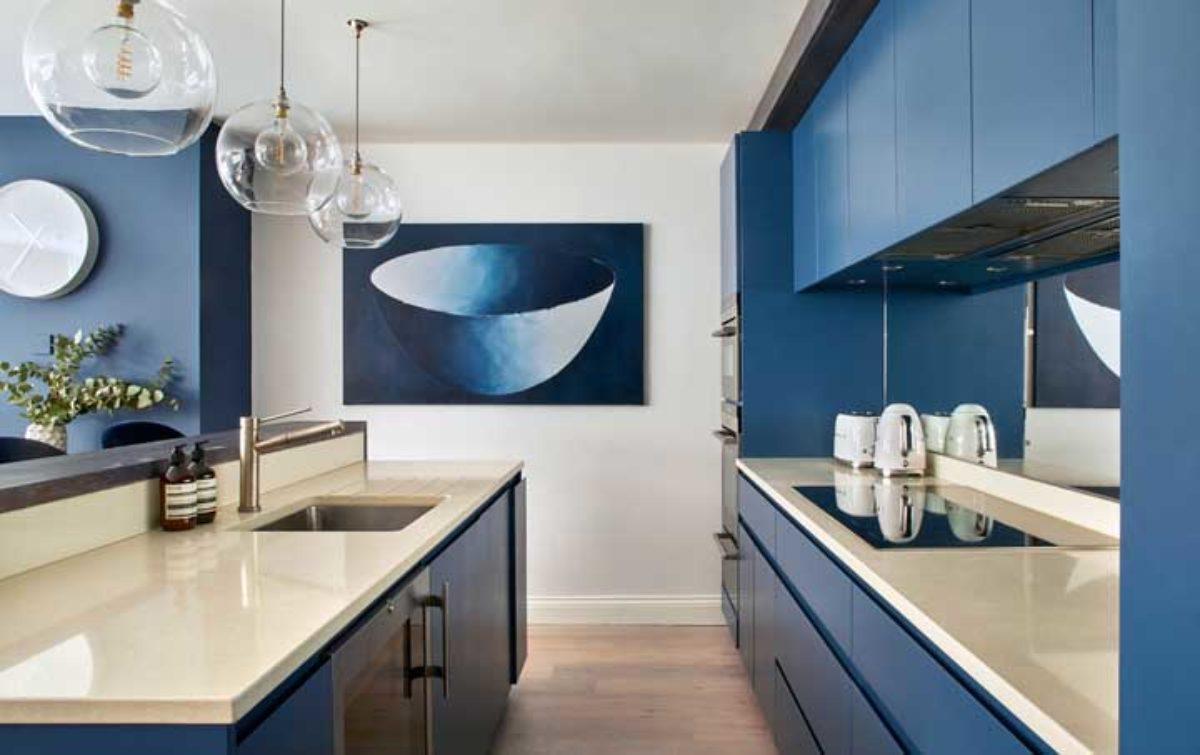 Image of: Cozinha Azul 65 Projetos Com Fotos Incriveis Em Diferentes Tonalidades