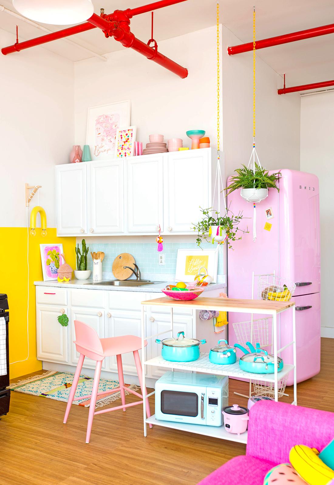 Uma cozinha toda fofa, divertida e cheia de cor