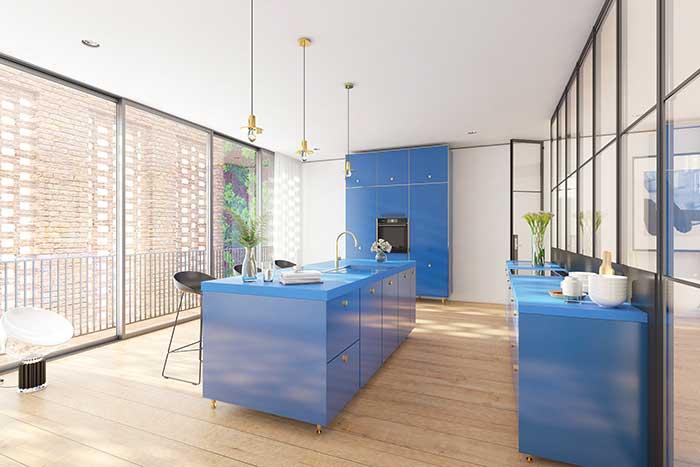 Uma cozinha moderna e original