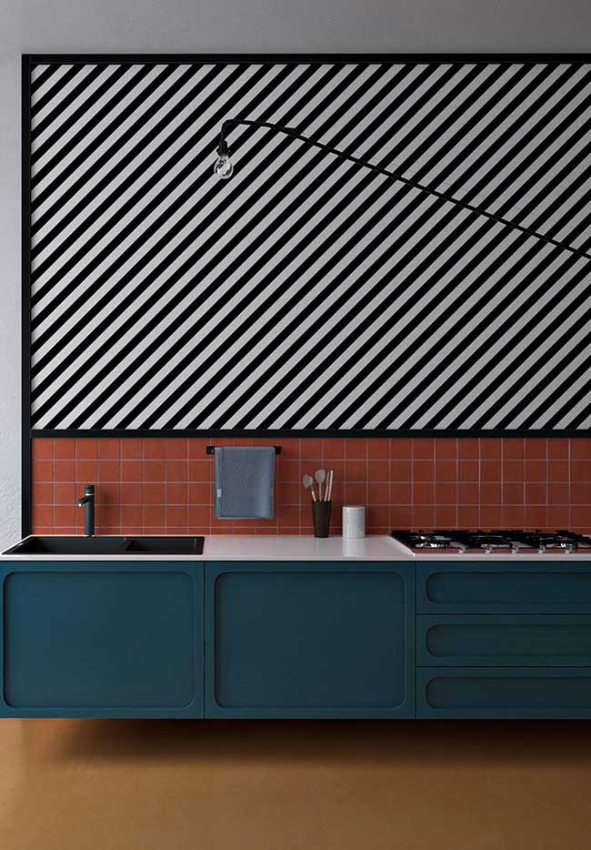 Já para quem adora uma decoração mais ousada nas suas cores, uma ideia de combinação