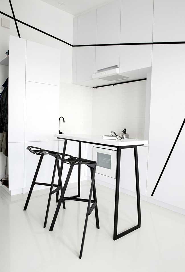 Uma ideia de cozinha minimal no estilo moderno
