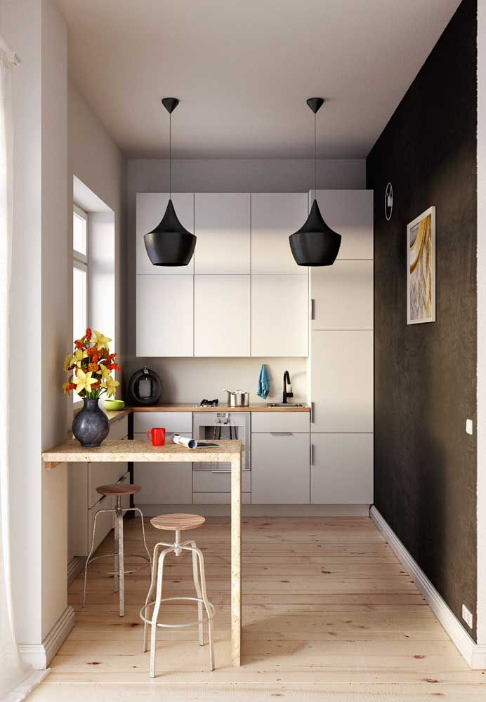 armários mais altos para criar espaço para todos os utensílios