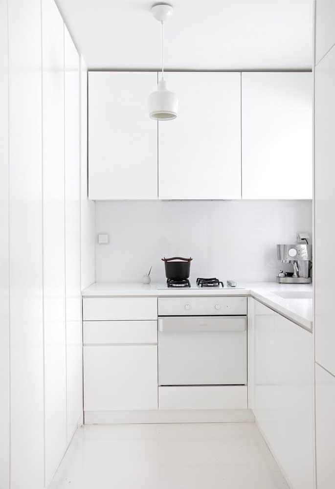Uma ideia minimalista de cozinha
