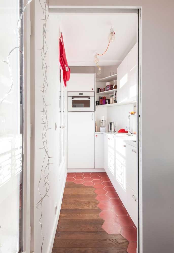 Outra ideia de cozinha pequena corredor: