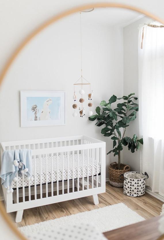 Decoração de quarto de bebê simples: neutro, fresco e cheio de sutilezas