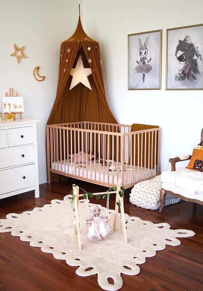 Decoração de quarto de bebê feminino
