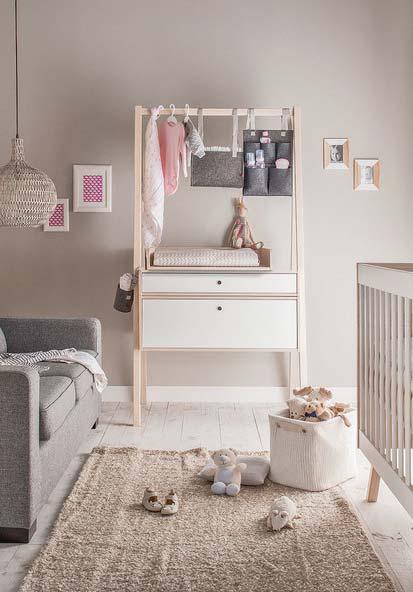 Na tendência dos tons pasteis: decoração de quarto de bebê super charmoso