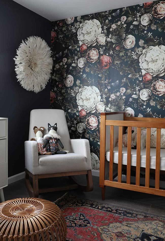 Mistura de estampas nesta decoração de quarto de bebê