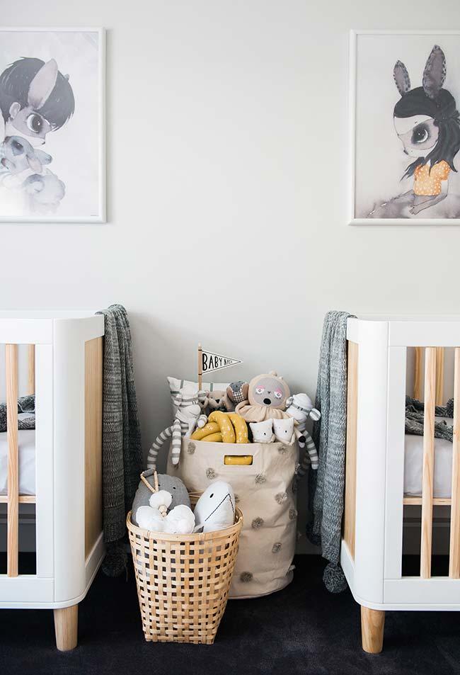 Decoração de quarto de bebê para gêmeos: simetria cheia de personalidade