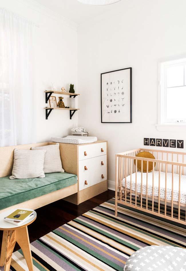 Decoração de quarto de bebê masculino simples para mostrar que com pouco se pode fazer um ambiente incrível