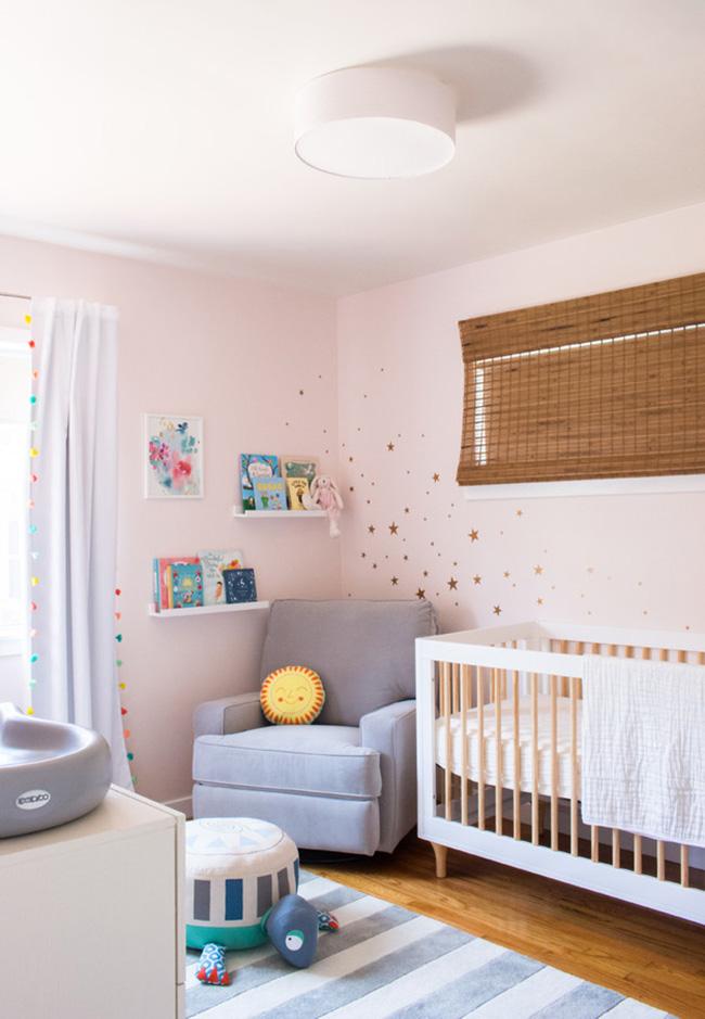 Decoração de quarto de bebê feminino rosa