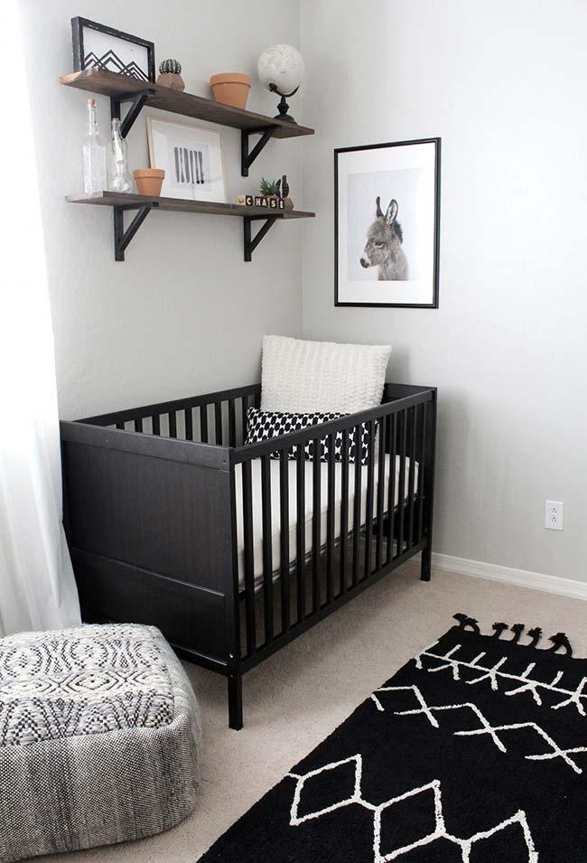 Decoração de quarto de bebê em P&B