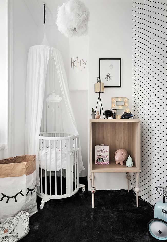 Decoração de quarto de bebê pequeno com soluções simples e muita personalidade