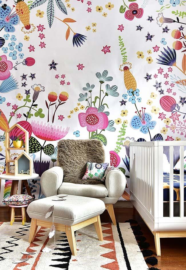 Um papel de parede para chamar toda a alegria e diversão para a sua decoração